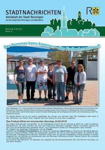 Ausgabe Nr. 18 - Stadt Renningen