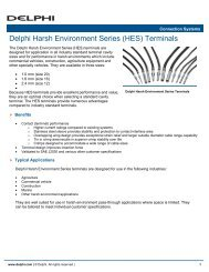 Delphi Harsh Environment Series (HES) Terminals