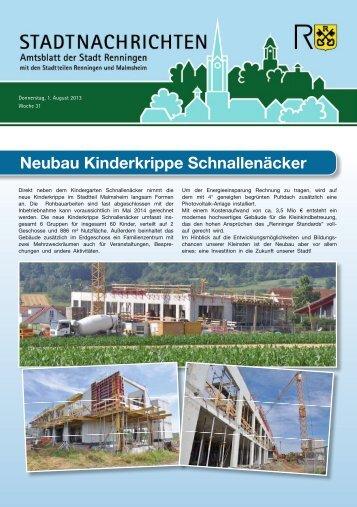 Ausgabe Nr. 31 - Stadt Renningen