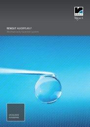 RENOLIT ALKORPLAN F Mechanically fastened system