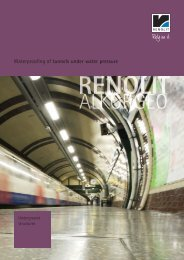 Waterproofing of tunnels under water pressure - Renolit