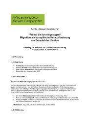 Programm der Achten Kiewer Gespräche zum Download - Renovabis