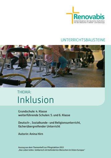 Unterrichtsmaterial Inklusion (2013) (4.3 MB) - Renovabis
