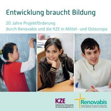 Entwicklung braucht Bildung - 20 Jahre ... - Renovabis