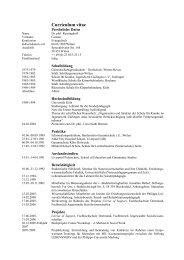 Curriculum vitae - Institut für Praxisforschung, Beratung und Training ...