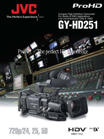GY-HD251 Compact ProHD camcorder for Studio - Creative Video