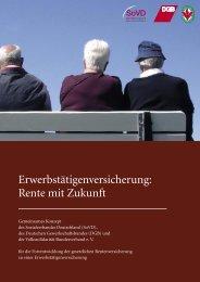 Erwerbstätigenversicherung: Rente mit Zukunft - ver.di: Sozialpolitik