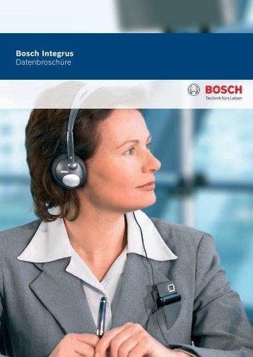 Bosch Integrus Datenbroschüre - bei Rent Event Tec