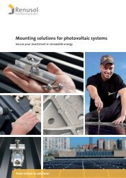 Mounting solutions for photovoltaic systems - Renusol