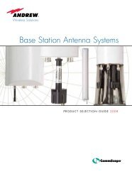 2008 Andrew Corp. Base Station Antenna Systems Product ...