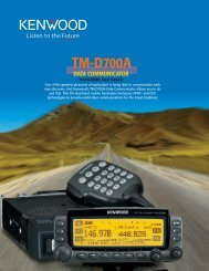 Kenwood TM-D700A Brochure