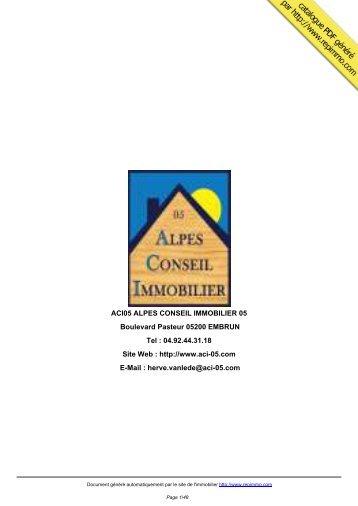 catalogue immobilier de ACI05 ALPES CONSEIL ... - Repimmo