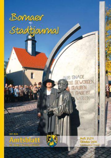 Amtsblatt der Großen Kreisstadt Borna 21/11 - Druckhaus Borna