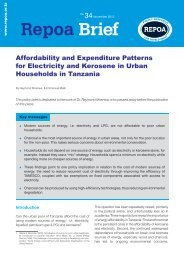 Affordability and Expenditure Patterns for Electricity and ... - Repoa