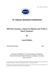 GD1 Off-farm Income: A Haven for Women and Youth in ... - Repoa