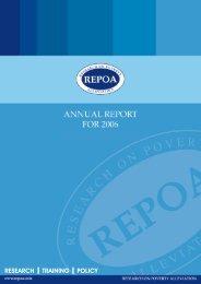 REPOA Annual Report 2006