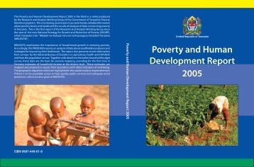 Poverty and Human Development Report 2005 - Repoa