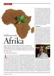 Seite 20-23: Hoffnungsmarkt Afrika - Report