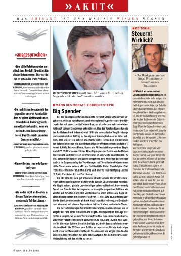 Seite 4-8: Akut, Editorial, Email aus Ãœbersee - Report