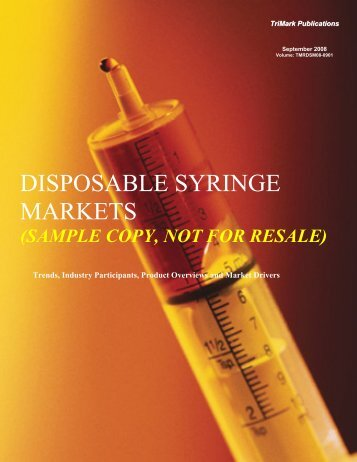 DISPOSABLE SYRINGE MARKETS - Report Buyer