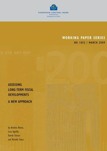Assessing long-term fiscal developments: a new approach