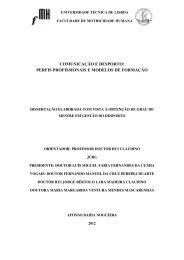 comunicação e desporto - UTL Repository - Universidade Técnica ...