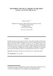 disturbing the fiscal theory of the price level - UTL Repository ...
