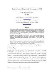 Factores Críticos de Sucesso da Governança dos ... - UTL Repository