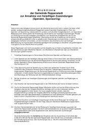 Richtlinie Annahme freiwilliger Zuwendungen - Reppenstedt