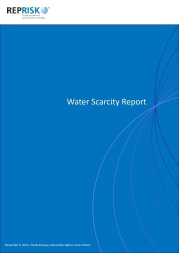 Water Scarcity Report - RepRisk