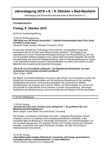 Jahrestagung 2010 8. / 9. Oktober Bad-Nauheim - Lasertec Druck ...