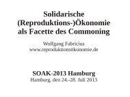 Solidarische (Reproduktions-)Ökonomie als Facette des Commoning