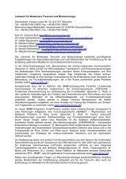 Steckbrief Lehrstuhl für Molekulare Tierzucht und Biotechnologie
