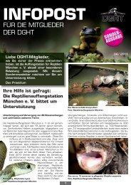 Sondernewsletter der DGHT - Förderverein der Auffangstation für ...