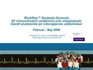 WorkRep™ Students Denmark 89 virksomheders omdømme som ...