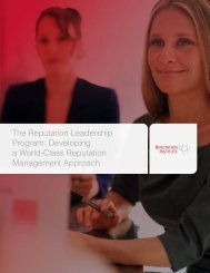 The Reputation Leadership Program: Developing a World-Class ...