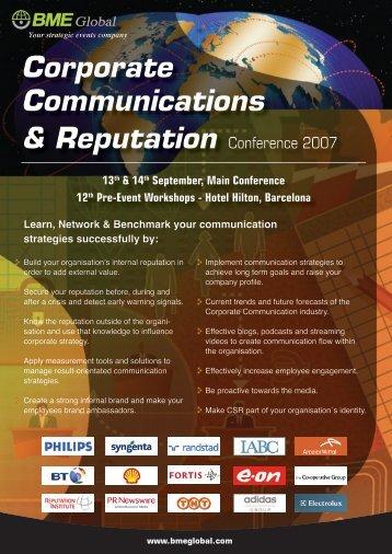 Corporate Communications and Reputation - Reputation Institute