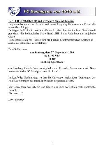 Ausgabe 02 im Jahr 2009 - FC Bennigsen