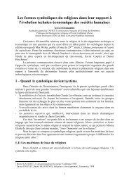 Les formes symboliques du religieux dans leur rapport à l ... - Afscet