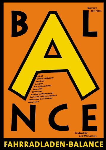 Katalog 2001 - Fahrradladen Balance