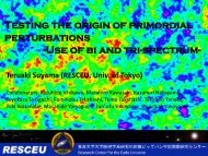 How can we reveal the origin of perturbations? - RESCEU