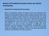 Beware of fraudulent practices when you opt for moving help