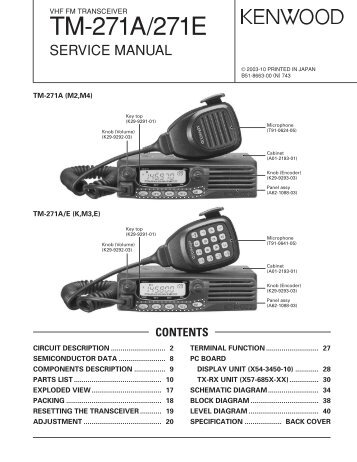 TM-271A Service manual - The Repeater Builder's Technical ...
