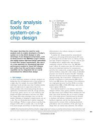 Early analysis tools for system-on-a- chip design - IBM Research