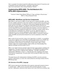 Implementing BPEL4WS: The Architecture of a ... - IBM Research