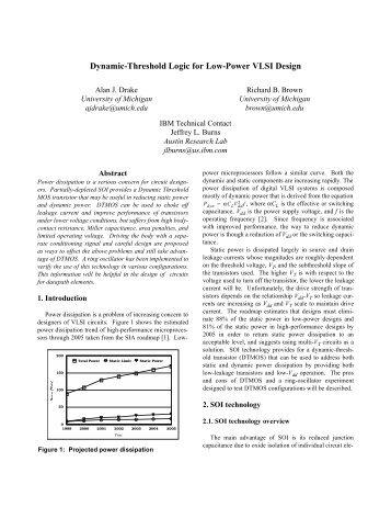 Dynamic-Threshold Logic for Low-Power VLSI Design - IBM Research