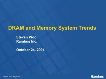 DRAM and Memory System Trends - IBM Research