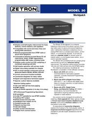 Zetron Model 30 Worldpatch Brochure - The Repeater Builder's ...