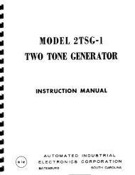 Automated Industrial Electronics Corp Model 2TSG-1 Two Tone ...