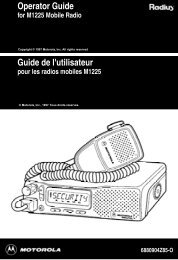 Operator Guide Guide de l'utilisateur - The Repeater Builder's ...